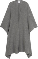 Madeleine Thompson Ribbed-knit Cashmere Wrap - Gray