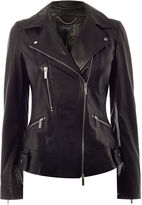 Karen Millen Leather Biker Jacket - Black