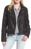 Splendid Women's Faux Leather Moto Jacket