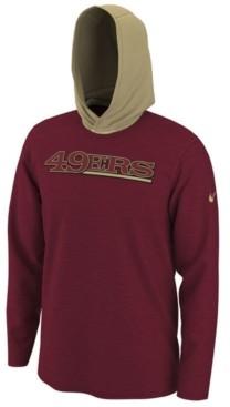 Nike Men's San Francisco 49ers Helmet Hood Dri-fit Cotton Long Sleeve T-Shirt