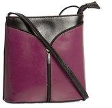 Big Handbag Shop Womens Mini Genuine Italian Leather Cross-Body Bag