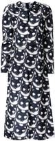 Nina Ricci 'cat' print dress - women - Silk - 36