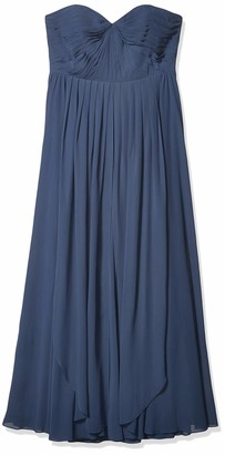 Jenny Yoo Women's Mira Convertible Strapless Pleat Chiffon Gown