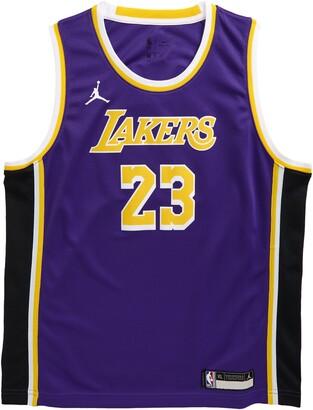 Jordan Kids' Dri-FIT NBA Icon Edition Los Angeles Lakers LeBron James Mesh Tank