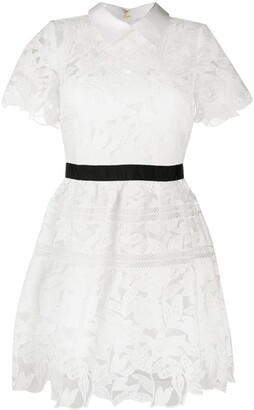 Self-Portrait Short Guipure Dress