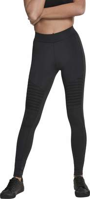 Urban Classic Women's Ladies Tech Biker Leggings Black 00007 8 (Size: X-Small)