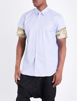 Comme des Garcons Printed-sleeves regular-fit cotton shirt
