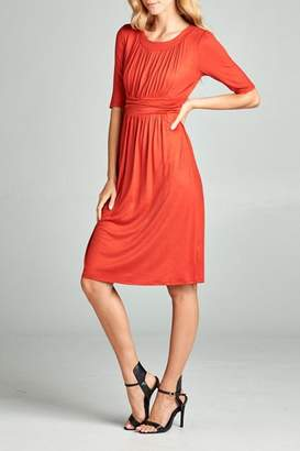 N. Tea Rose Ruched Dress