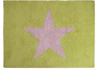 Camilla And Marc Happy Decor Kids Washable Rug (120 x 160 cm, Pistachio/Pink, Big Star)