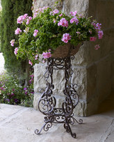 Horchow Iron Scroll Planter