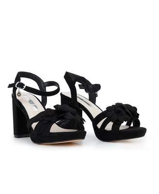 Xti Block Heel Sandals Colour: BLACK, Size: UK 3