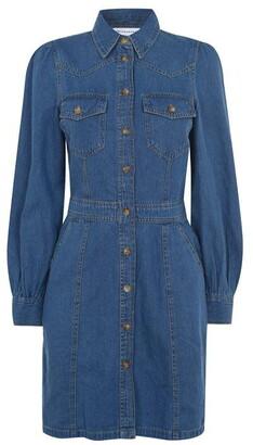 Warehouse Western Mini Denim Dress