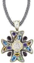 Effy Jewelry Effy 925 Cross Pendant with Sapphires, 5.50 TCW
