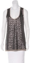 Les Copains Sequined Sleeveless Top