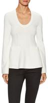 Balenciaga Scoopneck Ribbed Trim Sweater