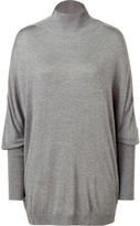 Jil Sander Heather Grey Dolman Sleeve Sweater