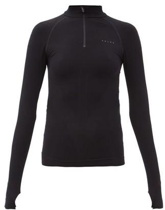 Falke Zipped-neck Jersey Thermal Top - Black