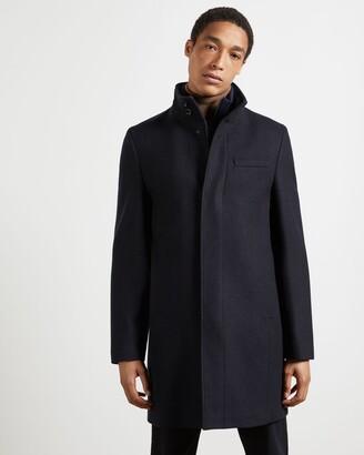 Ted Baker Wool Funnel Neck Coat