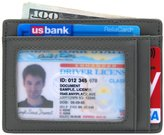 kinzd Slim Wallet RFID Front Pocket Wallet Minimalist Secure Thin Credit Card Holder (OneSize, )