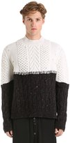 Damir Doma Patchwork Wool & Cashmere Knit Sweater