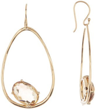 Ippolita 18k Yellow Gold Rock Candy Large Suspension Green Gold Citrine Earrings