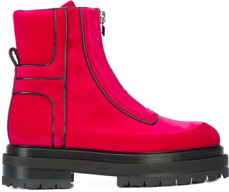 Pierre Hardy stitch detailed platform sole ankle boots
