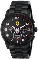 Ferrari Men's 0830054 Heritage Analog Display Quartz Black Watch