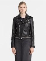 Calvin Klein Jeans Soft Leather Biker Jacket