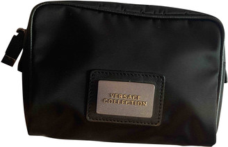 Versace Black Cotton Clutch bags