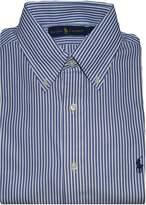 Polo Ralph Lauren Mens Pony Logo Striped Dress Shirt (17 36-37, Blue/White)