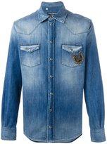 Dolce & Gabbana embroidered detail denim shirt