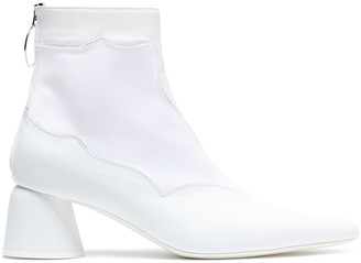Ellery Satin-paneled Faille Ankle Boots