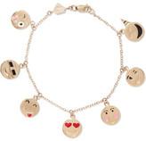 Alison Lou Enameled 14-karat Gold Bracelet - one size