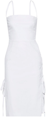 Milly Maria Lace-up Cotton-blend Dress