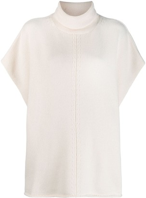 Joseph roll neck short sleeved jumper