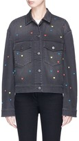 Stella McCartney Heart embroidered denim jacket