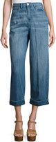 Etienne Marcel High-Waist Wide-Leg Cropped Jeans, Supreme Stone