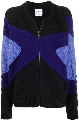Barrie Zip-Front Knitted Cardigan