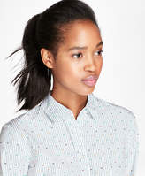 Brooks Brothers Striped Dobby-Dot Cotton Shirt