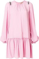No.21 gemstone shoulder detail dress - women - Silk/Acetate - 42