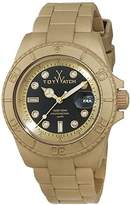 Toy Watch ToyWatch Unisex Quartz Watch with Black Dial Analogue Display and Gold Plastic Strap 0.94.0099