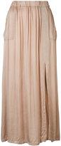 Raquel Allegra patch pocket maxi skirt