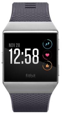 Fitbit Unisex Ionic Blue-Gray Elastomer Strap Smart Watch 35x32mm