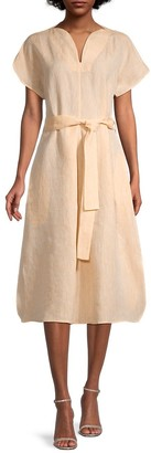 Harshman Leya Tie Linen Dress
