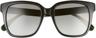 Gucci 53mm Gradient Round Sunglasses