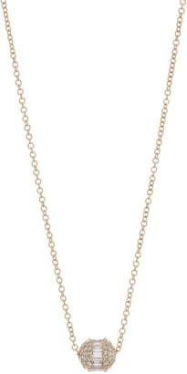 Ron Hami 14K Gold Diamond Barrel Pendant Necklace - 0.48 ctw