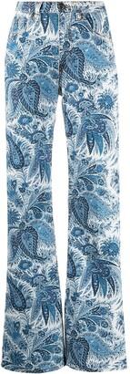 Etro Paisley Wide-Leg Jeans