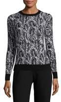 MICHAEL Michael Kors Leaf-Print Sweater