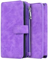 jasmine214 Luxury Leather Case Cover Zipper Wallet Card Multifunction For Iphone 6/ 6s Plus
