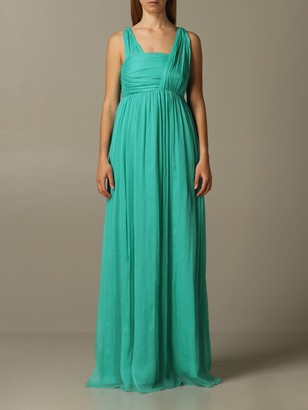 Pinko Long Charlotte Dress In Creponne